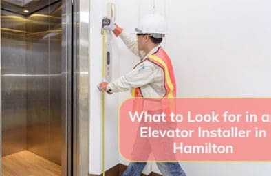 Engineer investigate work adjustment mechanism lifts the elevator