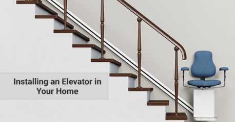 new home with a modern elevator